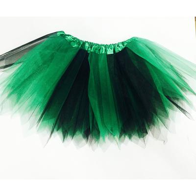 Jupe tutu en tulle noire et verte
