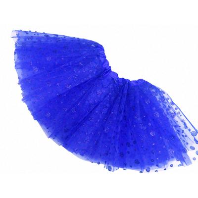 Jupe tutu de danse à pois pailletés bleu roy