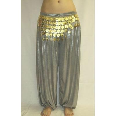 Pantalon Sarouel de Danse Argent Métallisé