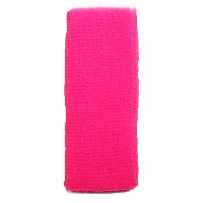 Bandeau de tête éponge rose fluo 80'