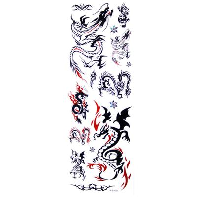 Tatouages temporaires thème dragons