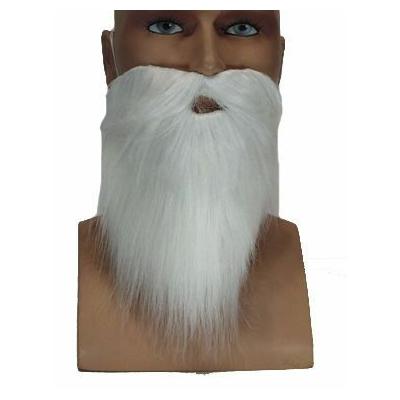 Barbe Et Moustache Blanche