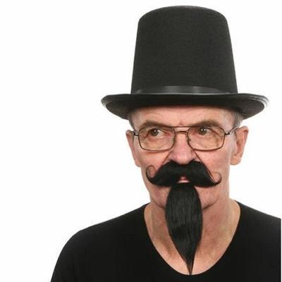 Moustaches Et Bouc Noir