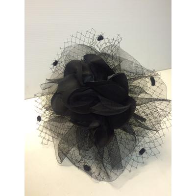 Serre tête grosse fleur noire