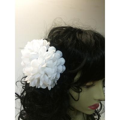 Pince chouchou fleur blanche