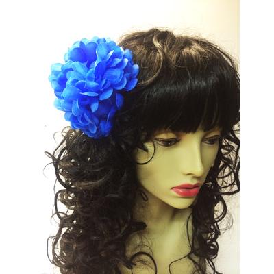 Pince chouchou fleur bleue