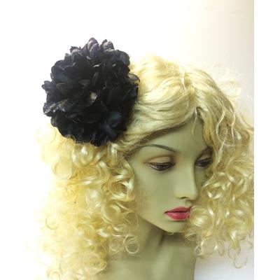 Pince chouchou fleur noire