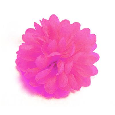 Pince chouchou fleur fuchsia