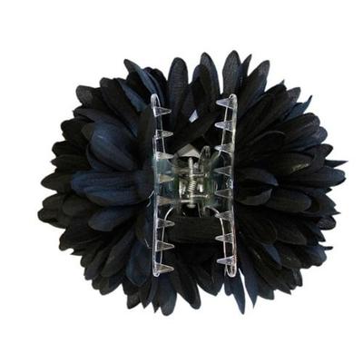 Pince chouchou espagnole fleur noire XL