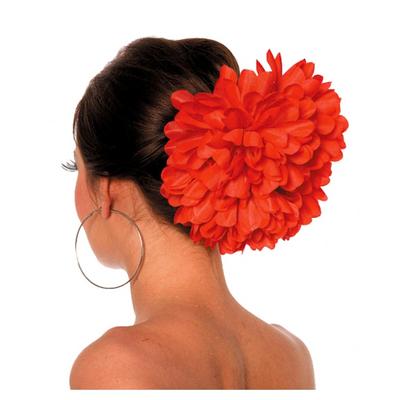 Pince chouchou fleur Espagnole Rouge XL