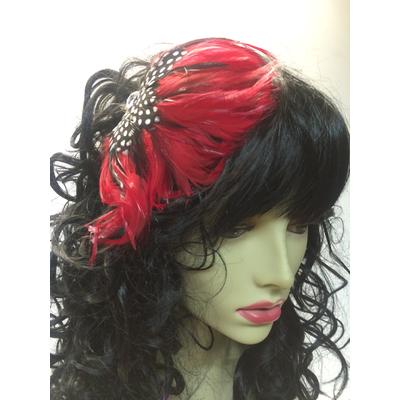 Serre tête cabaret plumes plumes rouges