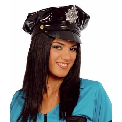 Casquette de Policier En Vinyle