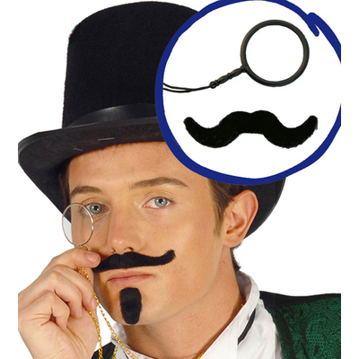 Kit monocle et moustache