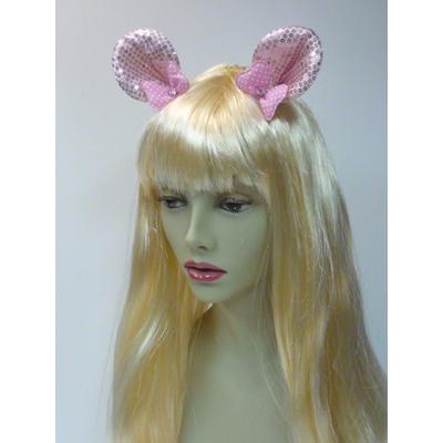Pinces oreilles de Minnie roses pailletées