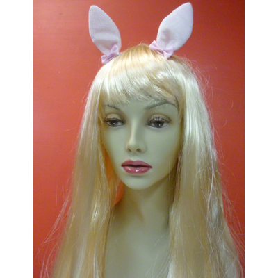 Pinces avec oreilles de lapin blanches