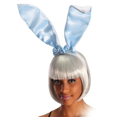 Serre tête lapin bleu