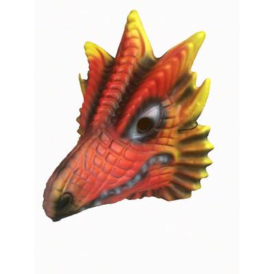 Masque de dinosaure rouge