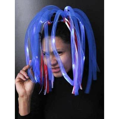 Diadème Cheveux Rasta Bleu Lumineux