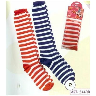 Chaussettes de Clown Rayées