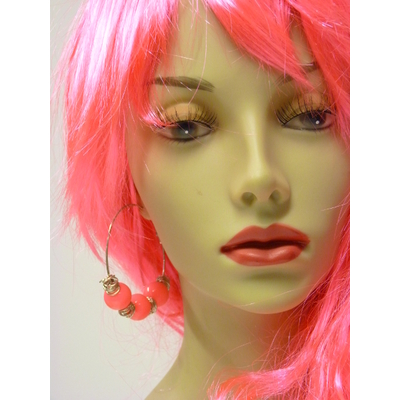 Boucles d'oreilles fluo rose