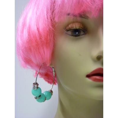Boucles d'oreilles fluo bleu turquoise