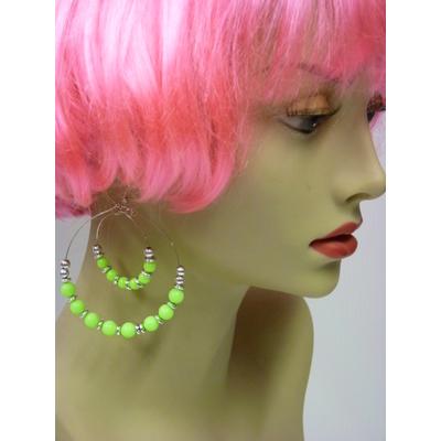 Boucles d'oreilles fluo vert