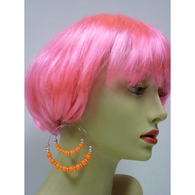 Boucles d'oreilles fluo orange