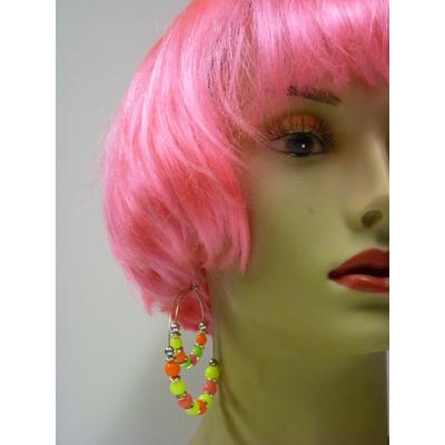 Boucles d'oreilles fluo multicolores