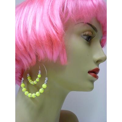 Boucles d'oreilles fluo jaune