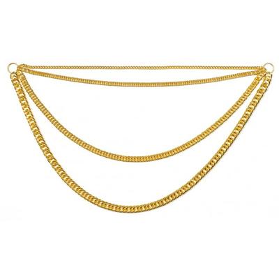 Collier chaînes métal doré