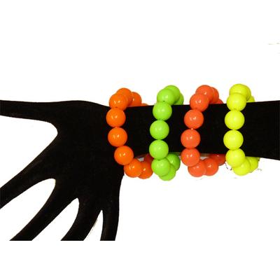 Bracelet perles fluo