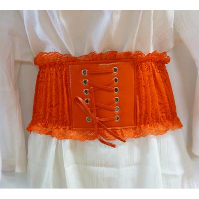 Ceinture corset rouge