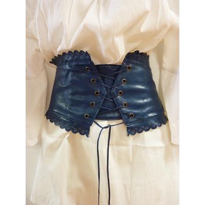 Ceinture corset bleue