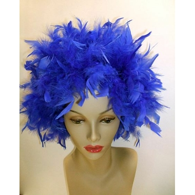 Perruque Plumes Bleue