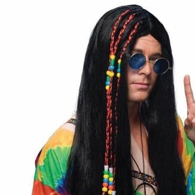Perruque Hippie Brune Avec Tresses