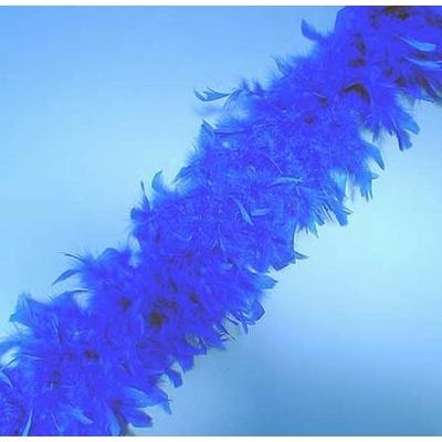 Boa En Plumes Bleu royal