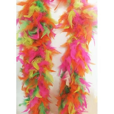 Boa plumes fluo multicolore