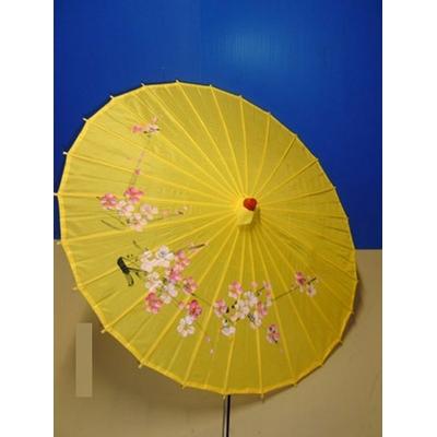 Ombrelle Chinoise Jaune 85 cm
