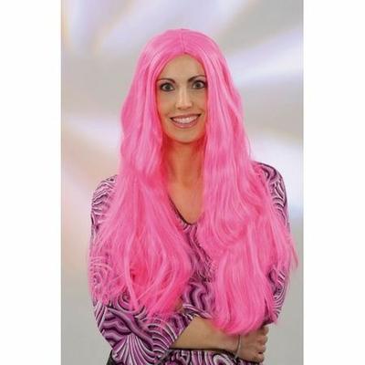 Perruque Longue Hippie Rose