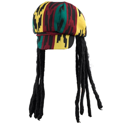 Chapeau casquette rasta avec dreads