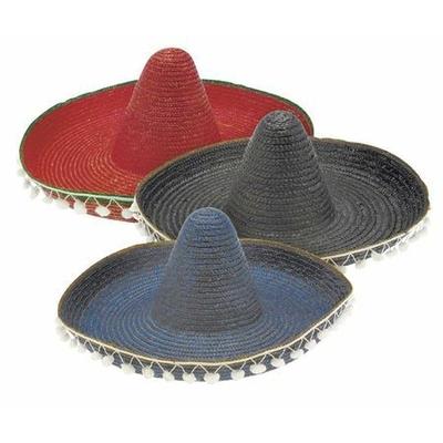 Chapeau sombrero Mexicain Paille 55 Cm