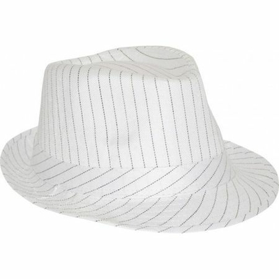 Borsalino Blanc à Rayures