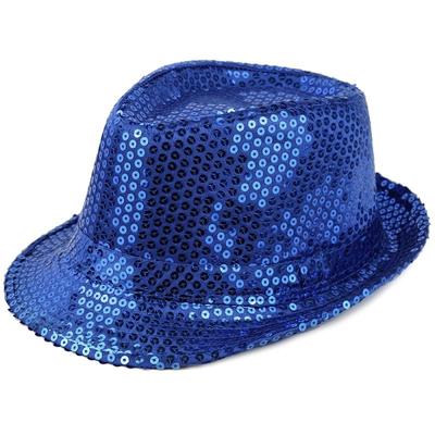 Borsalino à paillettes bleu toy