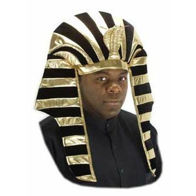 Coiffe de Pharaon En Velours Noire