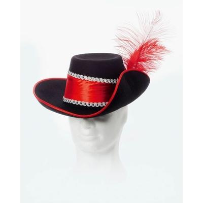 Chapeau de Mousquetaire Ou Cyrano Rouge