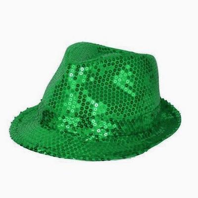 Chapeau Borsalino à Paillettes Vert