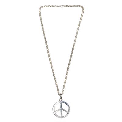 Collier peace and love en métal