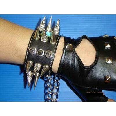 Bracelet Rocker Ou Punk En Cuir