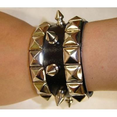 Bracelet Rocker En Cuir