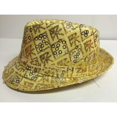Chapeau borsalino enfant doré